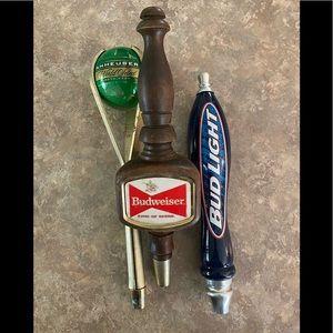 Budweiser beer taps - vintage